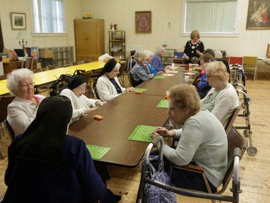 Residents play some Bingo at the St. Joseph Home in Sloatsburg on Apr. 10, 2017.