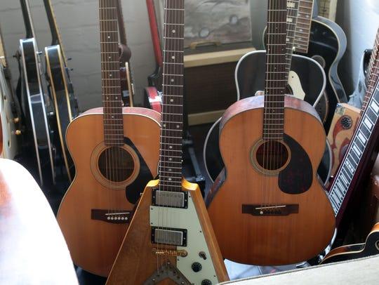 Instruments at Rancho De La Luna studio on Tuesday,