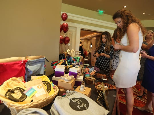Rethreaded, a business that employs survivors of sex trafficking, accepted donations and sold items at the banquet.