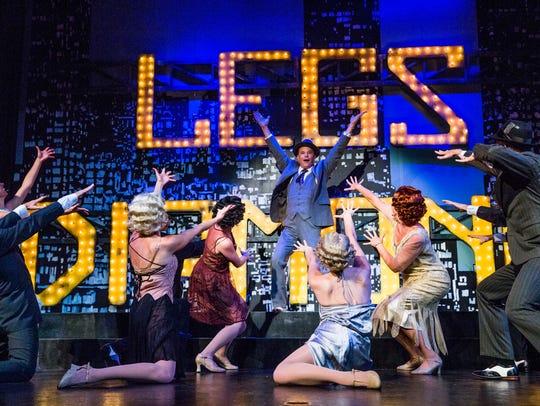 """TheatreZone cast members rehearse the show """"Legs Diamond"""""""