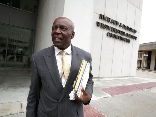 Spring Valley Mayor Demeza Delhomme after a hearing