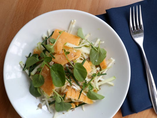 The celeriac salad (apple, gouda, sunflower seeds and