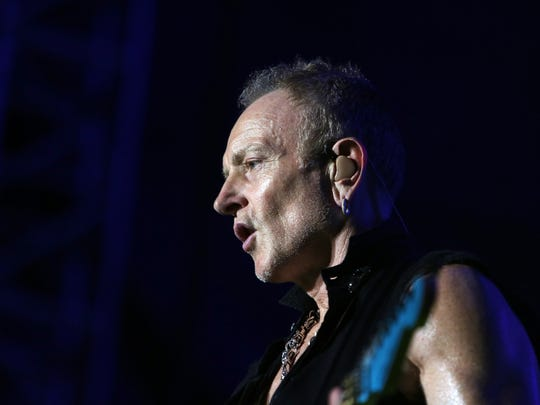 Phil Collen of Def Leppard performs at Fort Rock in 2017.