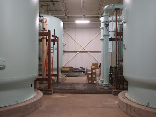 Inside the Des Moines Water Works nitrate removal facility