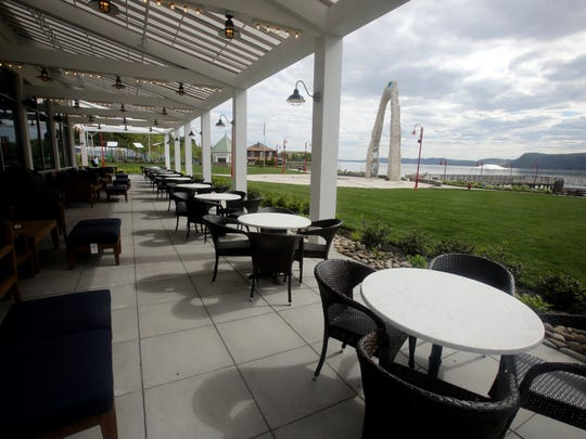 The patio seating area at 3 Westerly, a new restaurant