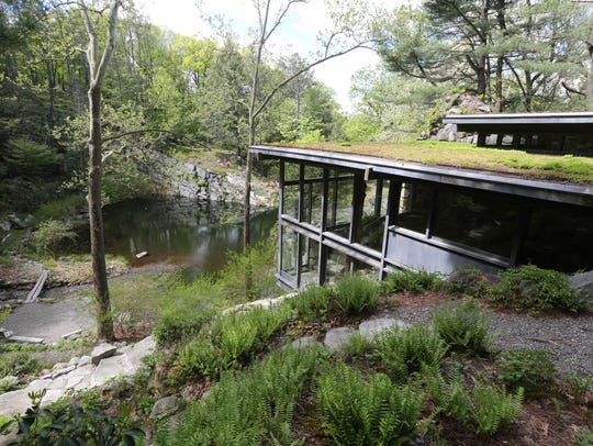 A view of the home and the grounds at Manitoga, the