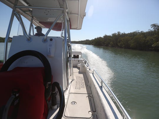 The Bonita Springs Fire Control and Rescue District's boat can be ready and in the water in three minutes, allowing it to quickly speed off to a medical emergency in Estero Bay or a sinking vessel in the Gulf of Mexico.