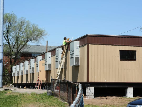 The prefabricated recreation center was installed in
