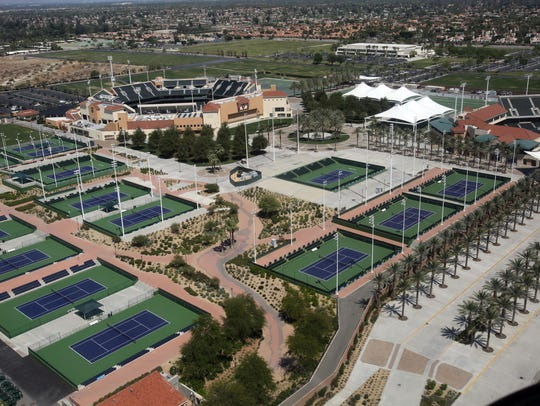 The Indian Wells Tennis Garden is seen from a Big Blue