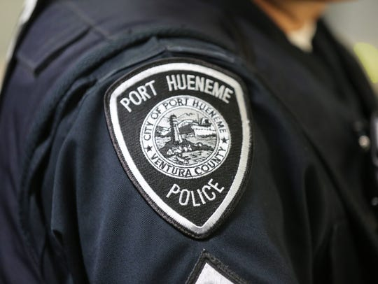 Stock image of Port Hueneme police officer badge.