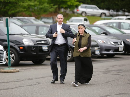 Mona Montal, the top aide to Supervisor Michael Specht and head of the purchasing department, walks into the Ramapo Town Hall in Airmont on May 22, 2017.