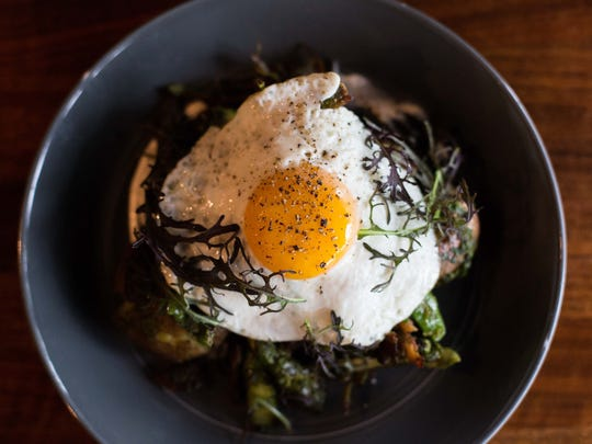 The Pork Hash is one of the featured dishes at the