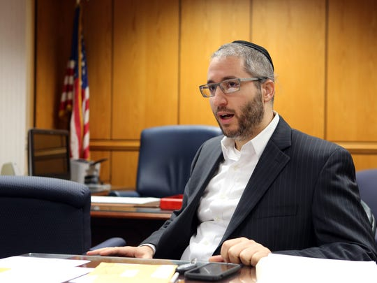Acting supervisor Yitzchok Ullman speaks about his