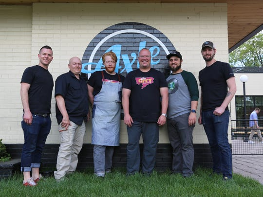 Livernois Tap key players: chef John Vermiglio, brewer Adam Beratta, chef Reid Shipman, president Daniel Riley, general manager Brett Cronkite and chef Josef Giacomino. Livernois Tap debuts at 567 Livernois in Ferndale June 3, 2017.