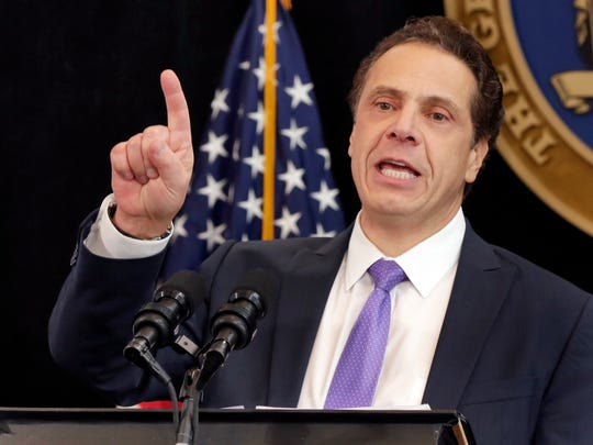 New York Gov. Andrew Cuomo speaks on Jan. 9, 2017, in New York City, in this file photo.