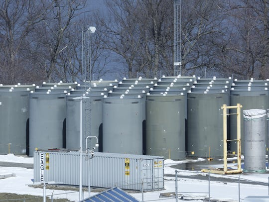 Dry storage of spent fuel rods at the Energy Indian