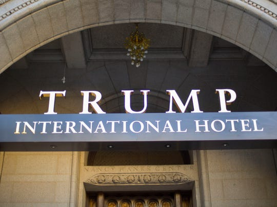 The exterior of the Trump International Hotel in downtown Washington.