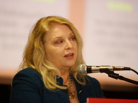 Westchester County Health Commissioner Dr. Sherlita Amler speaks at the Project Worthy Opioid Conference at the Westchester County Center in White Plains on Jun. 7, 2017.
