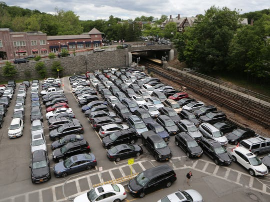 A view of the Scarsdale Freightway parking garage and