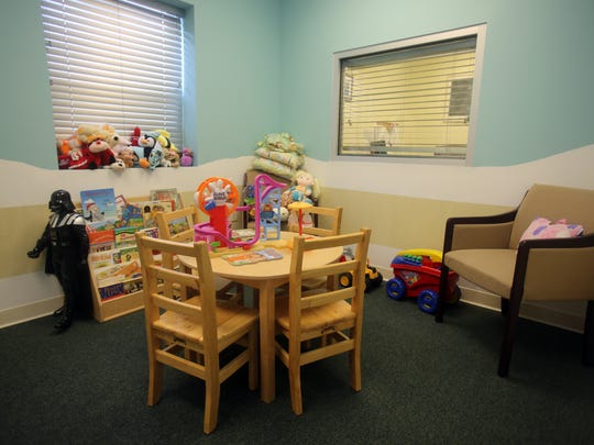 A waiting room for children at the Rockland County