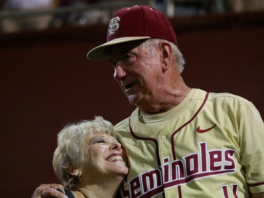 Florida state Head Coach Mike Martin and his wife Carol