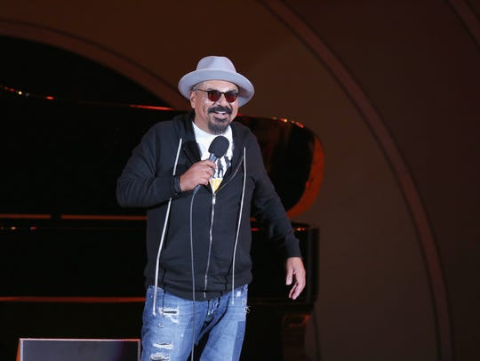 George Lopez onstage at the Hollywood Bowl Presents