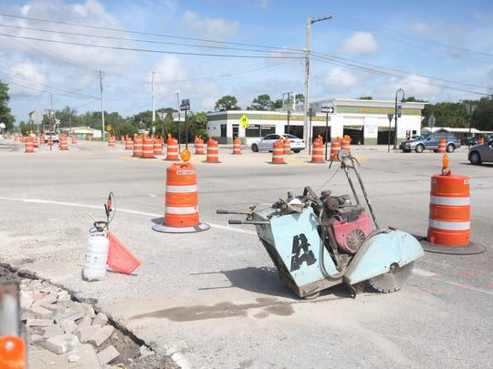 Crews are also working on parts of Old 41 Road as the final pieces of the Downtown Improvement Project.