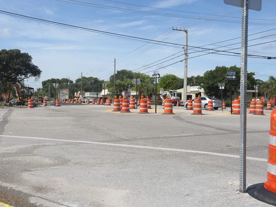Crews are working to complete the final roundabout by early fall.