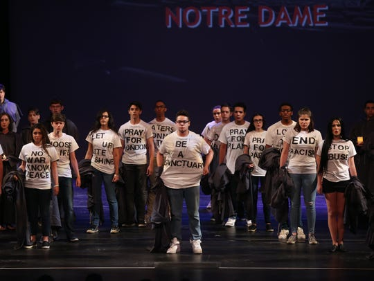 "Archbishop Stepinac High School performs ""The Hunchback of Notre Dame"" during the 19th annual Metro Awards at Purchase College in Purchase on June 12, 2017. The 2018 Metros will be back at Purchase, on June 11."