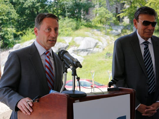 Westchester County Executive Robert Astorino and developer Martin Ginsburg lead a groundbreaking ceremony that was held at the site of the new Fort Hill development at the former St. MaryÕs Convent site in Peekskill on Jun. 13, 2017.  Construction has already begun that is estimated to cost $64 million.