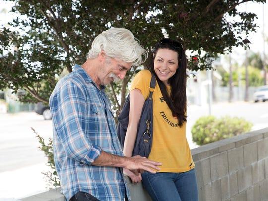 Lee (Sam Elliott) and Charlotte (Laura Prepon) develop