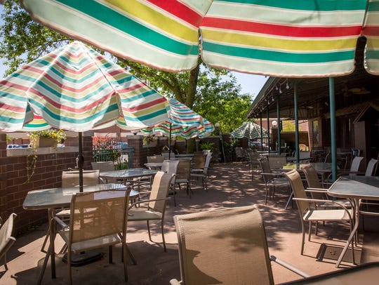 Patio dining at Trostel's Greenbriar at  5810 Merle