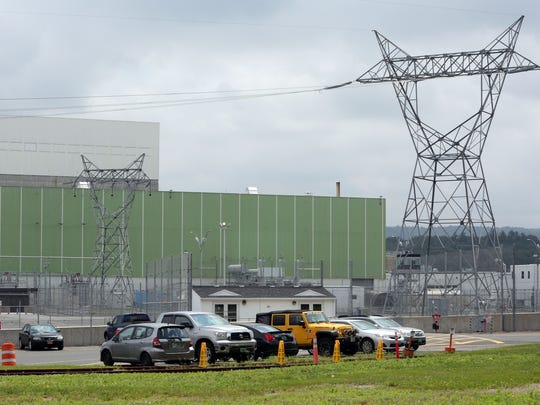 The turbine building, foreground and the top of the reactor building, left, are pictured at the Vermont Yankee Nuclear Power Plant in Vernon, Vermont, June 19, 2017.