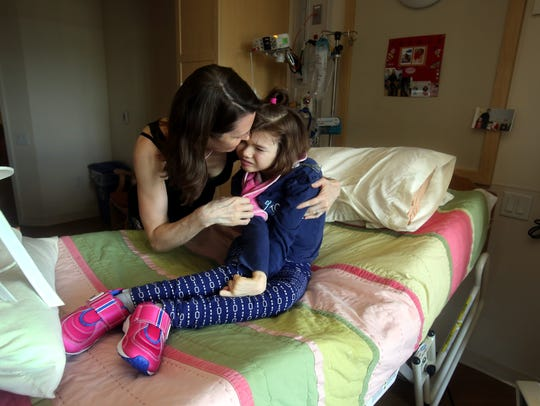 Renee Kelly spends time with her daughter Sophie, 11,