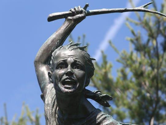 Statue of Sybil Ludington statue on Route 52 in Carmel.