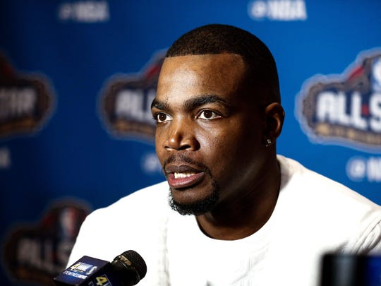 Feb 17, 2017; New Orleans, LA, USA; Paul Milsap during the All Star media availability at the Ritz Carlton.