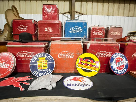 Coca-Cola collectibles Thursday June 22, 2017 in the