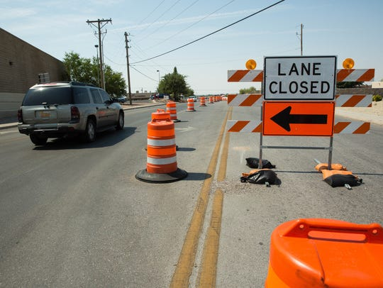With construction continuing on the intersection of