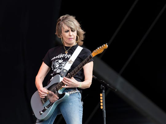 Chrissie Hynde performs with The Pretenders at the