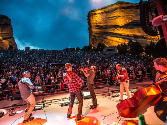 The Infamous Stringdusters at Red Rocks Amphitheatre, Morrison, Colorado.