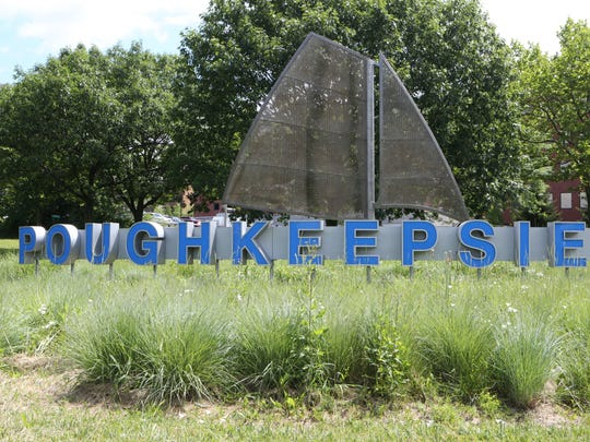 An entry sign to the city of Poughkeepsie