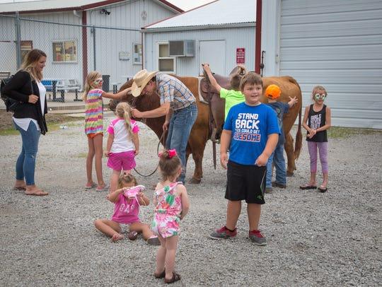 Jason Dent's bull Ole gave rides before Jason's first