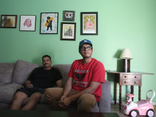Victor Munoz and his son Victor worked for months on landscaping projects near Interstate 10 and were not paid by their employer, they allege.