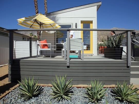 A one bedroom micro home in Palm Springs. This model