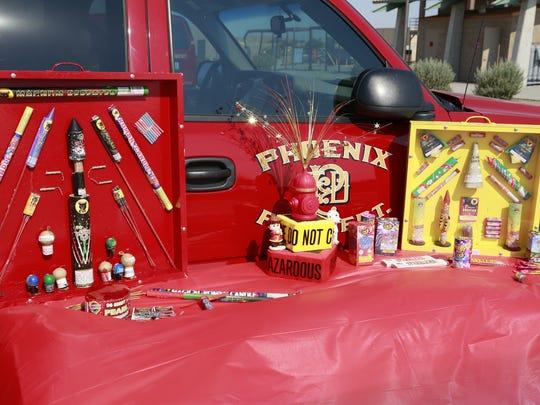 Phoenix Fire Department demonstrates fireworks dangers
