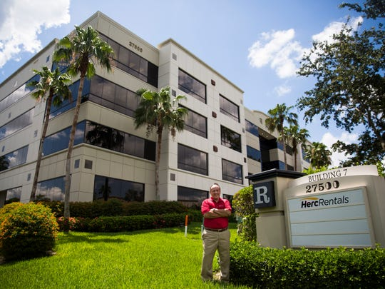 Larry Silber, president and chief executive officer for Herc Rentals, poses for a portrait outside of the building on Thursday, June 29, 2017 at Herc Rentals Inc. in Bonita Springs.