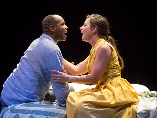 "Milwaukee native Nathaniel Stampley and Kathy Voytko star in the musical ""The Bridges of Madison County."""
