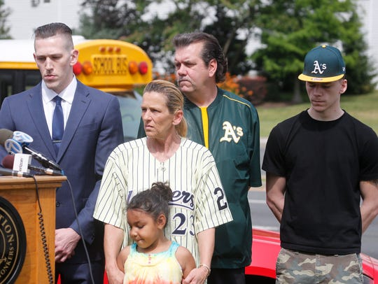 The Nolan family joined Yonkers Mayor Mike Spano Thursday