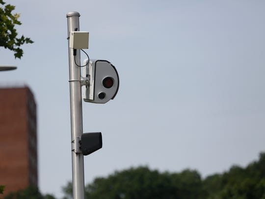 A red light camera on Central Park Avenue and Arlington