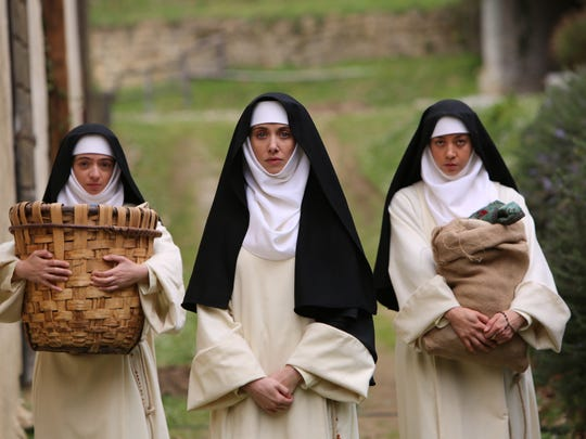 """""""The Little Hours"""" stars Kate Micucci (from left), Alison Brie  and Aubrey Plaza."""